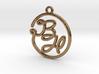 B & H Script Monogram Pendant 3d printed