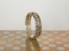 Cut Facets Ring Sz. 6.5 3d printed polished silver