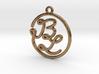 B & L Script Monogram Pendant 3d printed