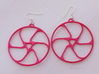 Triad Earring/Pendant 3d printed Triad by Layerfied in Pink Strong and Flexible Polished
