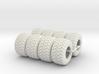 1/64 600/50x22.5 Ag Tires  3d printed