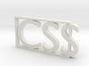 CSS  3d printed