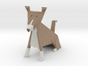 Folded Sculpture Dogs, Shetland Sheepdogs 3d printed