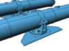 1/48 Forward Torpedo Tubes for PT Boats 3d printed