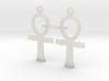 Ankh EarRings - Pair - Plastic 3d printed