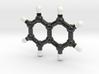Naphtalene Molecule Model 3d printed