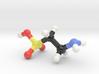 Taurine molecule model, small. 3d printed