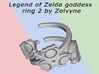 Zelda swird ring (solid back) size 4 3d printed