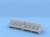 Bench type C - 00 ( 1:76 scale ) 4 Pcs set 3d printed