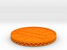 ^coaster shapeways 3d printed Shapeways Render - Orange Strong & Flexible Polished