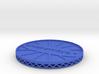 ^coaster shapeways 3d printed Shapeways Render - Blue Strong & Flexible Polished