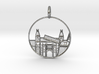 Amsterdam Pendant with Loop 3d printed Amsterdam Pendant with Loop (different materials have different prices)