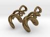 Tumbling loops earrings 3d printed
