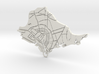 Amsterdam Map 3d printed