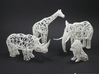 Digital Safari- Rhino (Small) 3d printed Digital Safari- Giraffe, Elephant, Rhino, Lion