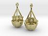 Hanging Basket Earrings 3d printed