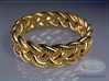 Celtic Knot Ring ~ size 9.5 (0.764 inch diameter) 3d printed Raytraced DOF render - simulating 14k gold material