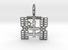 Space Station Pendant 3d printed Space Station Pendant (2D)