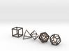 Platonic Solids (set of 5) 3d printed