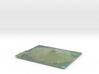 Rangitoto Island Map 3d printed