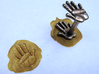 Handprint wax seal 3d printed with gold wax seal by request