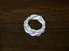 Turk's Head Knot Ring 4 Part X 8 Bight - Size 4.5 3d printed