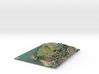 Maungauika / North Head Map 3d printed