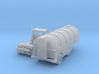 Milk Tank Truck Z Scale 3d printed Semi Trucks with milk trailer Z scale