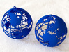 Planet Earth 3d printed Printed in Blue Strong Flexible