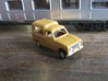 Renault 4 van in 1:160 scale (Lot of 6 cars) 3d printed  In Danish Postal service colors (Oldenborg-Gul) this is how it can look after a little paint
