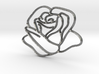Rose Pure 3d printed Rose Pure and Silver