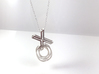 XO Interlocking necklace 3d printed XO necklace in polished silver