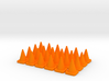 24 Small Traffic Cones 3d printed