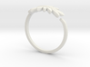 Friendship Leaf Rings 3d printed