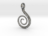 Spiral Pendant Textured - Version 2 3d printed