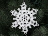 Gyroid Snowflake Ornament 1 3d printed Gyroid Snowflake Front