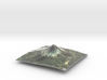 Mt. Fuji Map 3d printed
