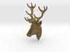 Deer head pendant 3d printed