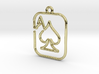 The ace of spades continuous line pendant 3d printed