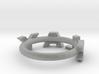 """Metallic """"slay"""" ring 3d printed"""