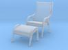 Danish Bentwood Chair w/ Ottoman 3d printed