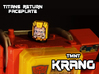 Krang Faceplate (Titan Masters) 3d printed Hand painted frosted ultra detail,