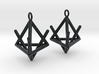 Pyramid triangle earrings type 2 3d printed