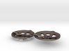 "Double Seconds ""essence"" steelpan earrings, S 3d printed"