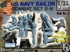 1-35 US Navy Sailors Combat SET 2-6 3d printed