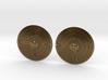 Earrings- Bronze Cymbals 3d printed