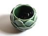 Small Artichoke Cup 3d printed Oribe Green Porcelain