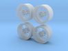 "Enkei RPF1 17"" 1/24 pack Fujimi spindle 3d printed"