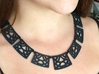 Art Deco Statement Necklace 3d printed Black Statement Necklace by seriaforma