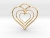 Three Hearts 3d printed